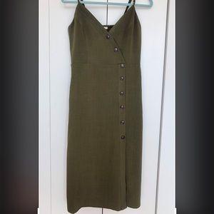 Olive Midi Summer Dress Sz M
